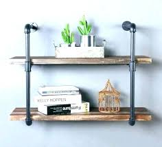 hanging wall shelves shelf ideas industrial built with pipe galvanized hang on can you brick hangi cube hanging shelves