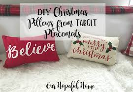 Believe Pillow Have Yourself A Merry Little Christmas Pillow, Target  Placemat
