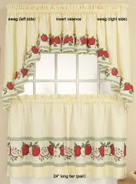 Red Swag Kitchen Curtains Apple Kitchen Curtains Everything Log Homes