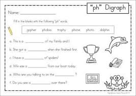 Initial phonic sounds for young learners. Ph Digraph Games Activities Worksheets 84 Pages In Total A Page From The Unit Write The Missing Word Phonics Words Digraph Phonics