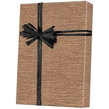 Small Picture Shamrock Burlap Pattern Gift Wrap on Kraft E6345
