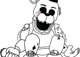 Coloring Pages Nightmare Page By On Fnaf Book Sister Location