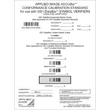 Barcode Mil Size Chart Conformance Calibration Standard For Gs1 Databar Ai Ccs Databar