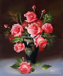 classical flower painting rose painting living room decoration painting uk 2019 from sunstong 01 uk 38 2 dhgate uk