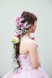 生花で飾る髪型スタイル別花嫁ヘアアレンジまとめ Marryマリー