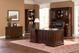 Home office desks sets Luxurious Office Brown Wood Desk Set Classic Paneled Home Office Furniture Collection In Medium Walnut Finish Furniture From Home Brown Wood Desk Set Classic Paneled Home Office Furniture