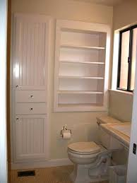 sightly built in bathroom shelves delightful tall built bathroom shelves awesome best recessed shelves ideas on