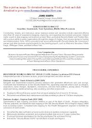 Security Executive Resume Sample Best Of Business Analyst Resume Examples Objectives You Have To Create A