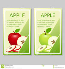 Apple Flyer Templates Apple Brochure Design Stock Vector Illustration Of Design 110178278
