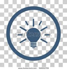 vector square blue icon lighting bulb. light bulb rounded icon vector illustration style is flat iconic symbol inside a circle square blue lighting