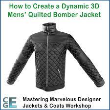 MD115 - Marvelous Designer Quilted Bomber Jacket Workshop - CG Elves & MD115 – Marvelous Designer Quilted Bomber Jacket Workshop Adamdwight.com