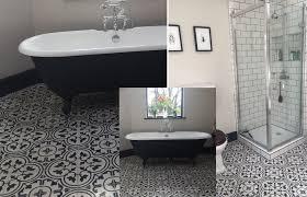 moroccan encaustic tiles bathroom
