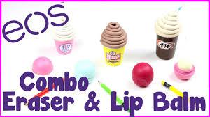 diy crafts diy eos eraser combo 3 ice cream inspired eos lip balm container craft ideas