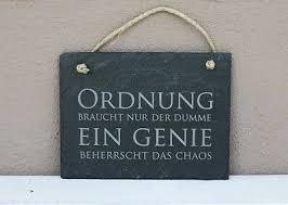 Schiefer Schild Ein Genie Beherrscht Das Chaos Schiefertafel