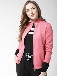 madame women c pink solid sweatshirt