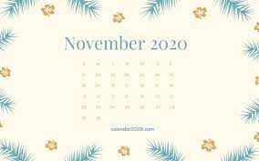 November 2020 Calendar Wallpapers Top ...