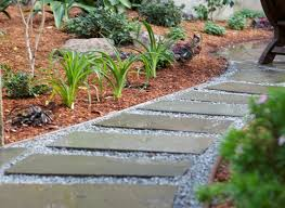 garden paths and stepping stones. gravel, stepping stones, mulch walkway and path aesthetic gardens mountain view, garden paths stones