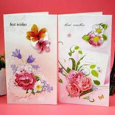 Postcards For Birthday Us 7 99 8pcs Lot Color Flower Print Folding Greeting Card Postcards Birthday Bussiness Gift Card Set Message Card In Cards Invitations From Home