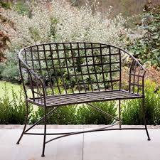 garden benches metal. Fine Benches Woven Metal Garden Bench Intended Benches A