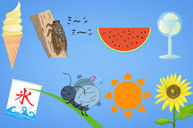 夏の無料イラスト 暑い季節のイメージフリー素材 チコデザ
