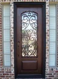 front doors dallasWrought Iron Entry Doors Single Door SD38003  Single doors
