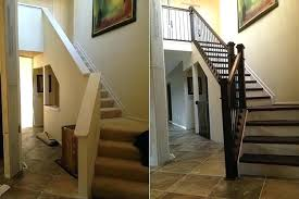 replace stair railing. Exellent Replace Replace Banister With Half Wall Stair Railing  In Replace Stair Railing