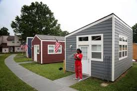 Tiny houses catch on in war on homelessness - Houston Chronicle