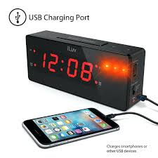 alarm clock with super vibrating wired bed shaker db panic sound and built iluv dual manual rise n shine dual alarm clock with bed