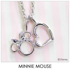 disney necklace disney minnie mouse heart silver jewelry accessories lady s pendant necklace vpcds20170 mini regular article