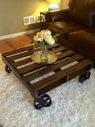 lovable rustic coffee tables with wheels diy pallet coffee table with wheels pallet furniture plans