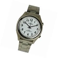 mens talking watch for blind lifemax rnib men s talking atomic watch 407 1 bracelet