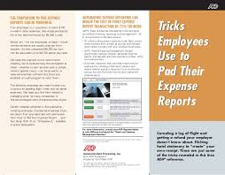 Tricks To Pad Expense Reports