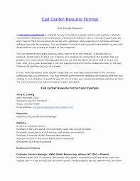Resume Format For Bpo Jobs Sample Resume Format For Bpo Jobs Fresh Resume Format For Call 4