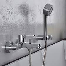 wall mounted tub faucet with hand shower