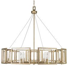 golden lighting chandelier. Golden Lighting Marco 8 Light Chandelier, White Gold/Clear Glass Chandelier L