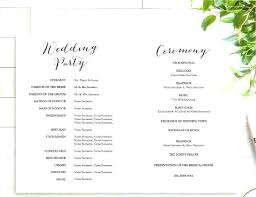 Wedding Programs Template Free Wedding Program Template Publisher
