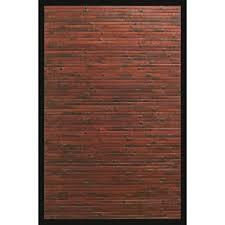 anji mountain cobblestone mahogany brown with black border 4 ft x 6 ft area