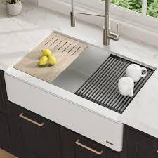 Kraus Bellucci 33 Inch Ceramtek Granite Quartz Composite Farmhouse