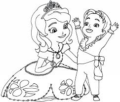 Sofia the first coloring pages with james - ColoringStar