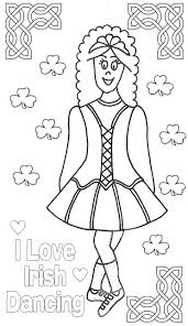 Irish Girl Coloring Pages Just Colorings