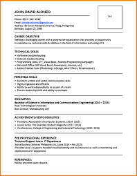 5 Download Sample Resume Format Gcsemaths Revision