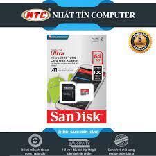 Thẻ nhớ MicroSDXC SanDisk Ultra A1 64GB Class 10 U1 100MB.s kèm adapter  [Đỏ], giá chỉ 199,000đ! Mua ngay kẻo hết!