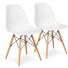incredible set of eames style dining chair mid century modern molded pict for plastic popular and
