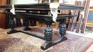 7ft dining table: riley antique refectory snooker dining table
