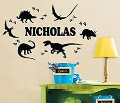 cool custom made personalized dinosaur footprint name wall sticker boy bedroom nursery wall art decals on custom made wall art stickers with amazon cool custom made personalized dinosaur footprint name