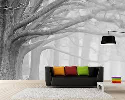 Beibehang Zwart Wit Forest Tree Art Achtergrond Muur Schilderen