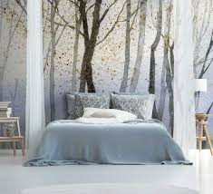 watercolour forest wall mural by la feature