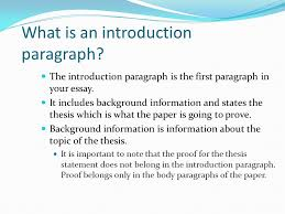 essay background information essay background information gxart  pasco hernando community college tutorial series academic essays the introduction paragraph is the first paragraph in