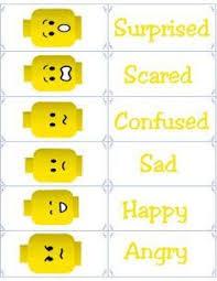 Free Printable Flashcards Emotion Flash Cards Lego