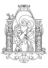 Small Picture print coloring image Jack skellington Adult coloring and Tim burton